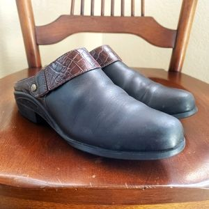 Ariat Sport Mules Black Leather Size 6.5